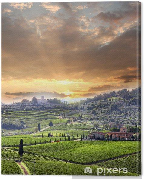 Canvas Chianti wijngaard landschap in Toscane, Italië - Thema's