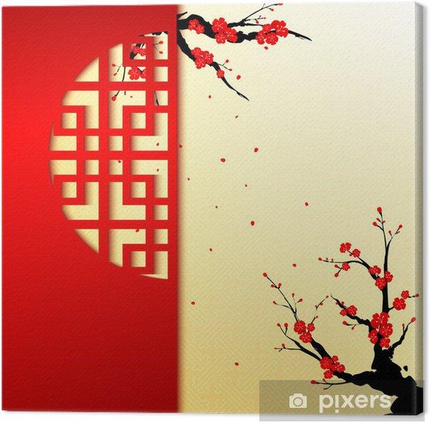 Canvas Chinees Nieuwjaar Cherry Blossom Achtergrond - Stijlen