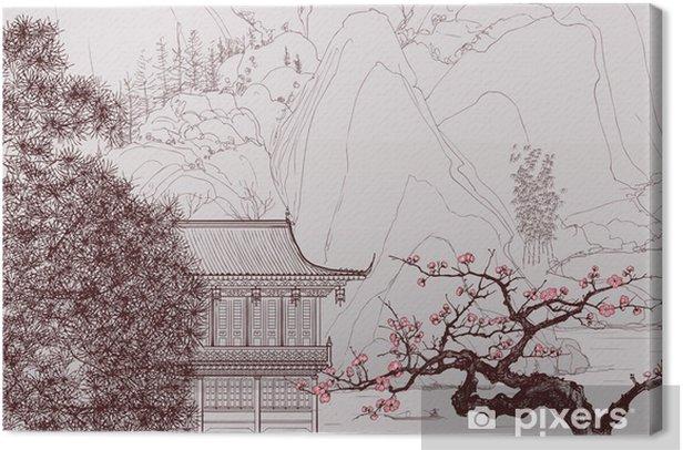 Canvas Chinese landschap - Stijlen
