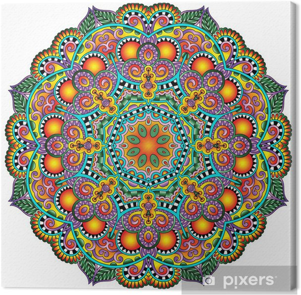 Canvas Cirkel kant ornament, ronde sier geometrisch patroon kleedje - Stijlen