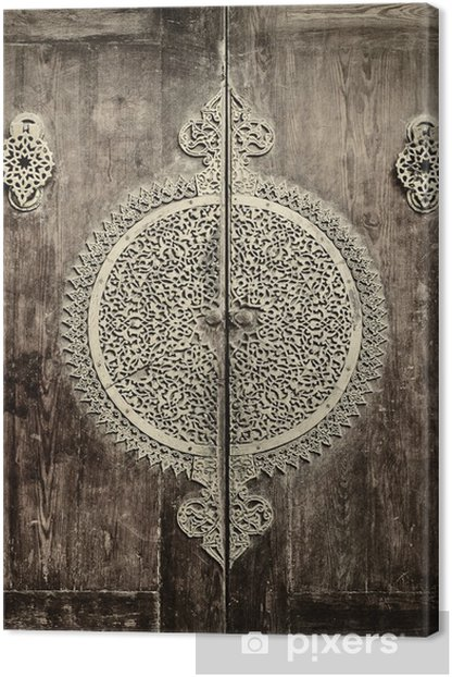 Canvas Close-up beeld van oude deuren - iStaging
