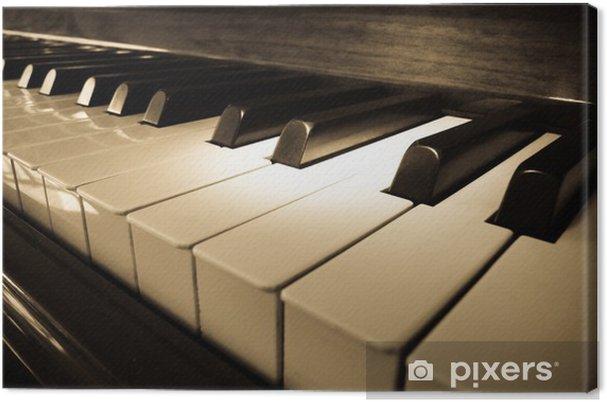 Canvas Close-up shot van piano toetsenbord - jazz