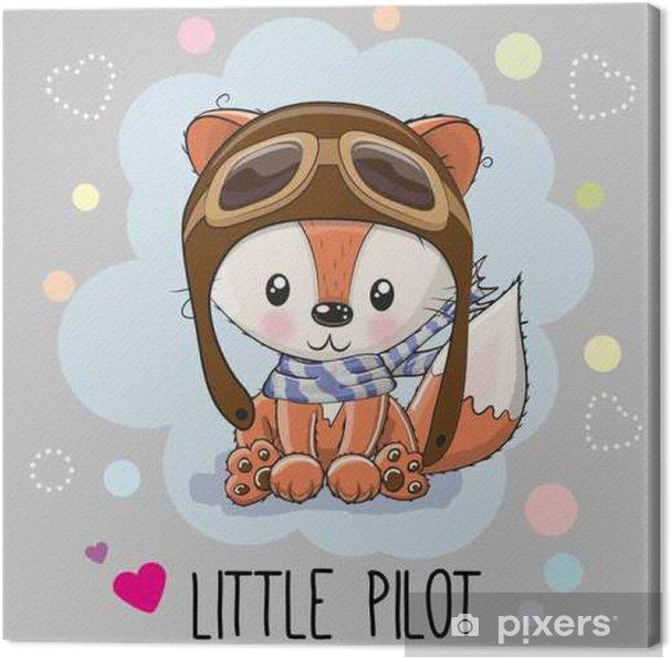 Canvas Cute cartoon fox - Dieren