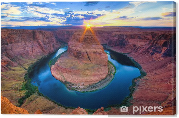 Canvas De Horseshoe Bend, USA - Thema's