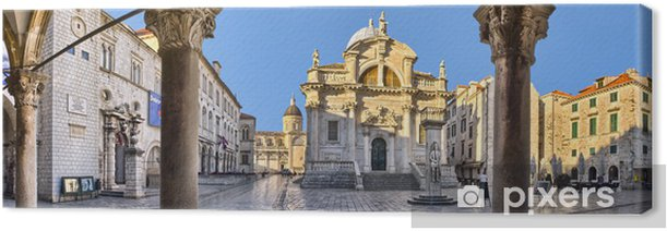 Canvas De kerk van St. Blasius in Dubrovnik, Kroatië - Europa