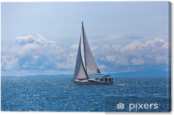 Canvas De recreatieve Jacht op Adriatische Zee - Thema's