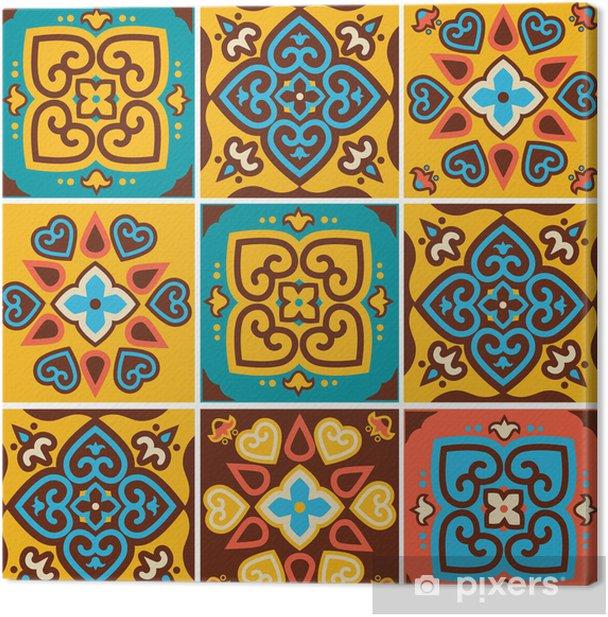 Canvas De traditionele keramische tegels patronen - Kunst en Creatie