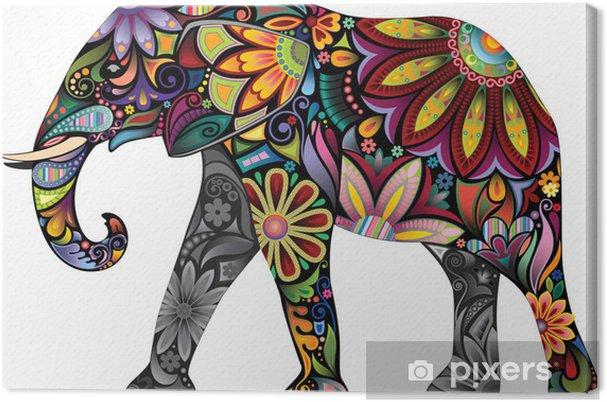Canvas De vrolijke olifant - Denkbeeldig dieren