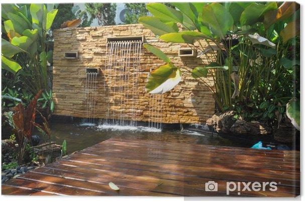 Waterval In Tuin : Canvas decoratieve huis tuin stenen waterval vijver u2022 pixers® we