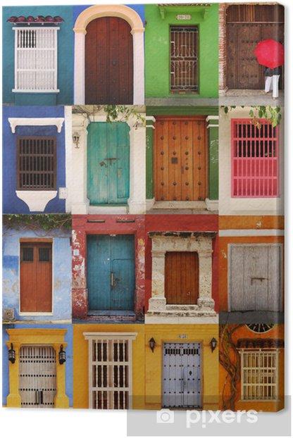 Canvas Deuren Cartagena, Colombia - Amerika