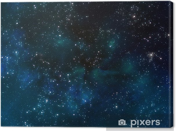 Canvas Diepe ruimte of starry night sky - Thema's