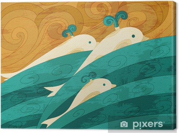 Canvas Dolfijnen vector kunst - Thema's