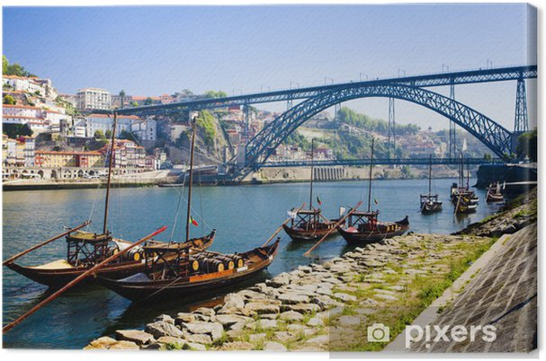 Canvas Dom Luis I-brug in Porto, Douro provincie, Portugal - Thema's