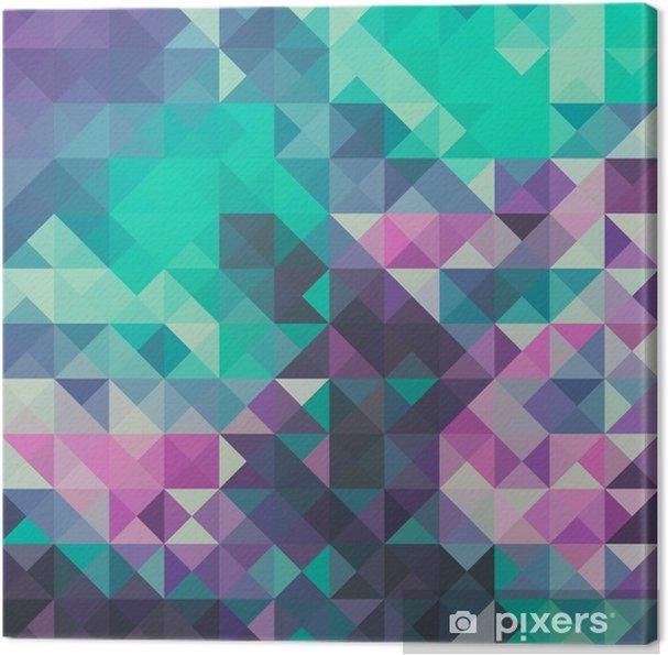 Canvas Driehoek achtergrond, groen en violet - Grafische Bronnen