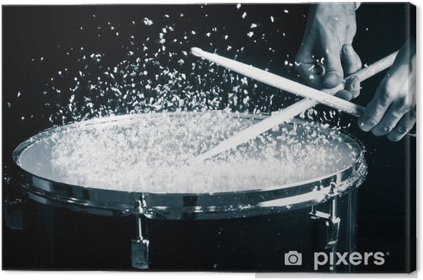 Canvas Drum, hand en stokken - Thema's