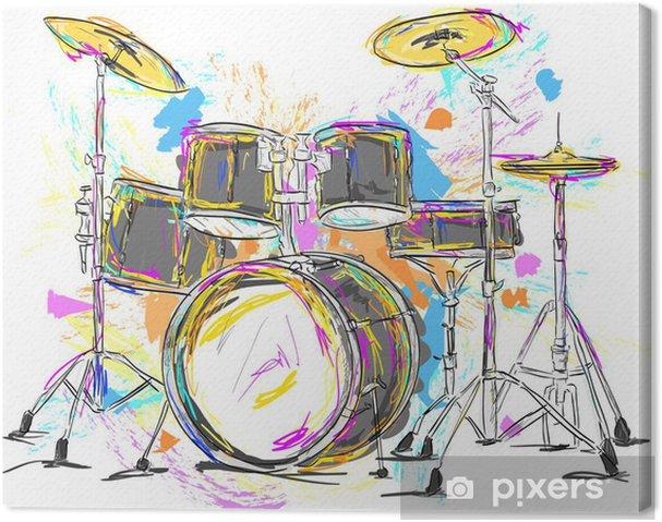 Canvas Drum Schilderen Vector Art - Thema's