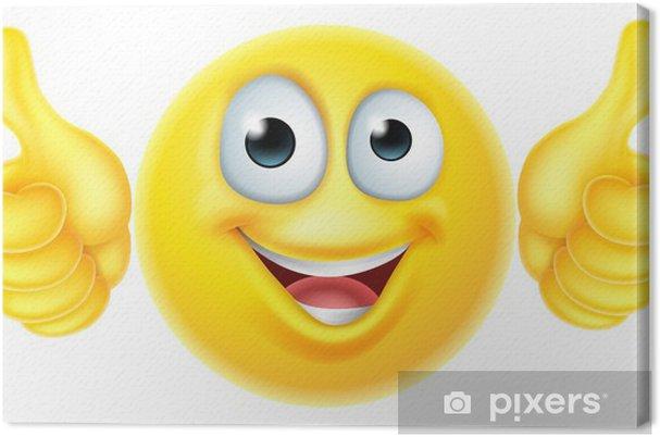 Canvas Duimen omhoog emoticon emoji - Tekens en Symbolen
