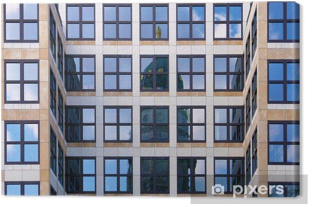 Canvas Duitse Kathedraal reflex in de moderne bouw, Gendarmenmarkt squar - Europese steden