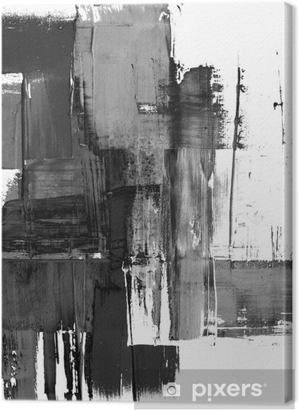 Canvas Een abstract schilderen geklater frame in zwart-wit - Stijlen