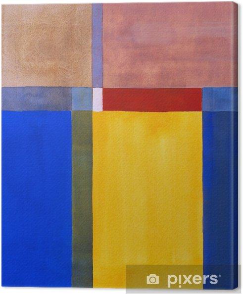 Canvas Een minimalistische abstracte schilderkunst - Wetenschap