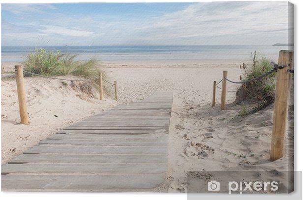 Canvas Een paadje naar het strand - Bestemmingen