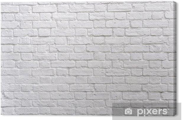 Canvas Een witte bakstenen muur - Thema's