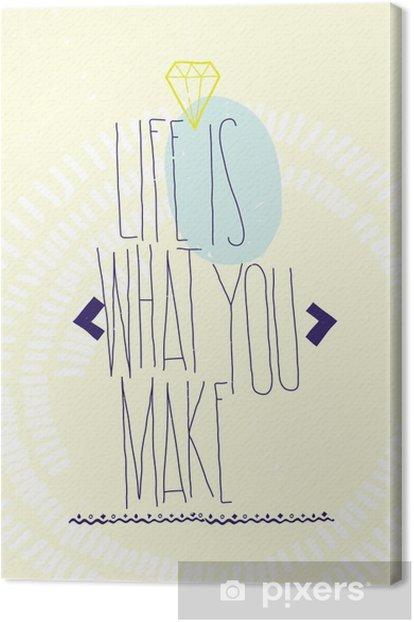 Canvas Eenvoudige inspirerende motiverende citaten poster met diamant, dood - Business