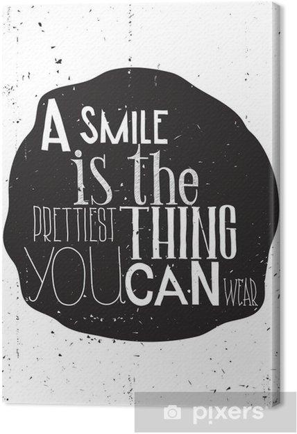 Canvas Eenvoudige Stijlvol motivatie poster, op elke dag - Gevoelens, Emoties en Staten van Geest