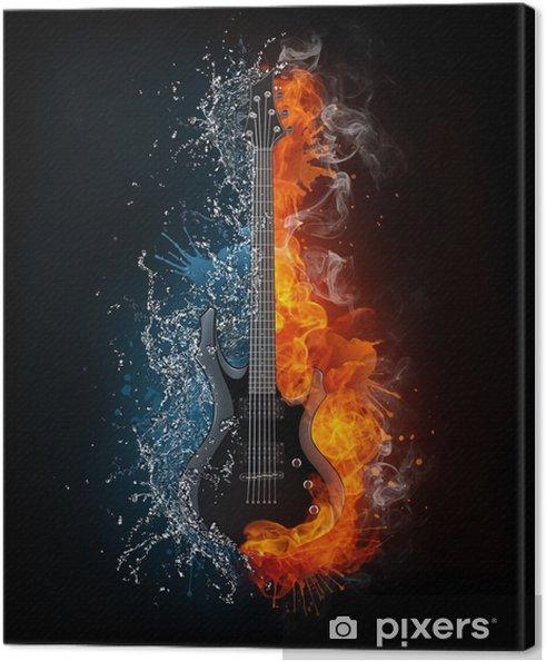 Canvas Electric guitar - Stijlen