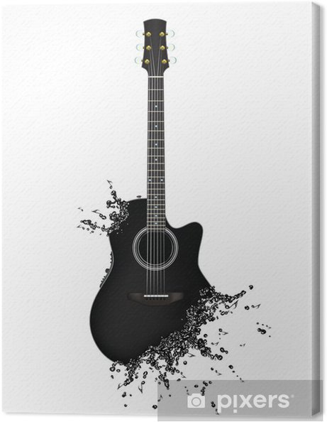 Canvas Electric guitar - Thema's