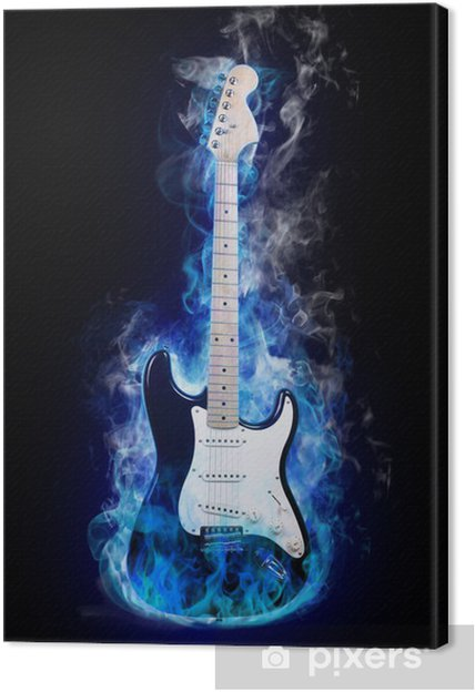 Canvas Electric guitar - jazz