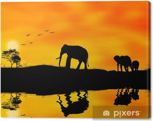 Canvas Elefanti afrika - Thema's