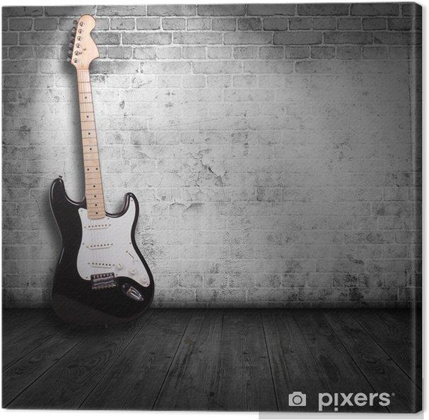 Canvas Elektrische gitaar in de kamer - Thema's
