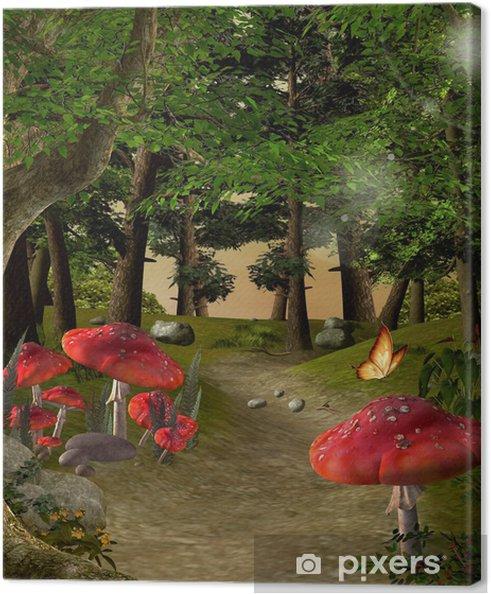 Canvas Enchanted natuur-serie - Weg in het magische bos - Thema's