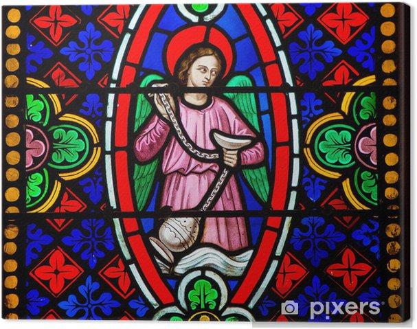 Glas In Lood Engels.Canvas Engel Met Wierookvat Glas In Lood In Bayeux Pixers We