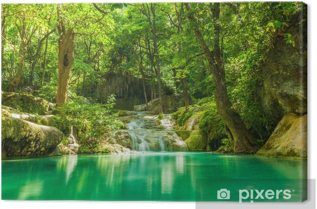 Canvas Erawan waterval. - Thema's