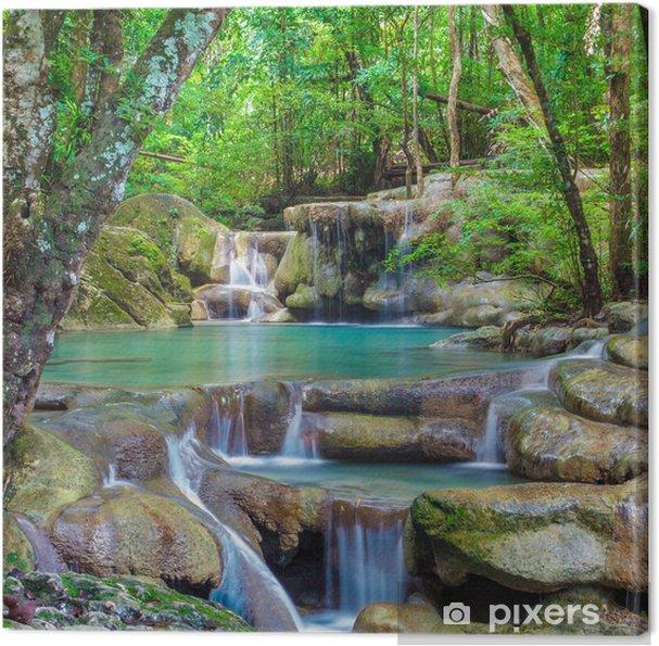 Canvas Erawan waterval. - Watervallen