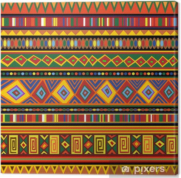 Canvas Etnische kleurrijke patroon Africa Ethnic Art-Kleuren Art Afrika - Texturen