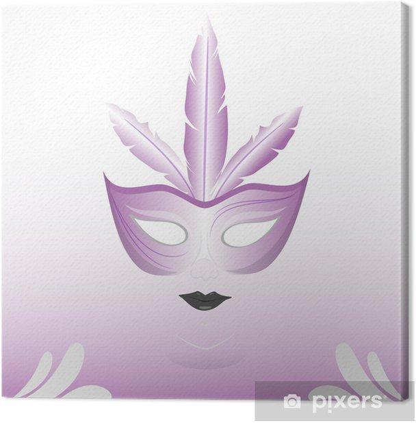 Canvas Faccia maschera altviool - Nationale Evenementen