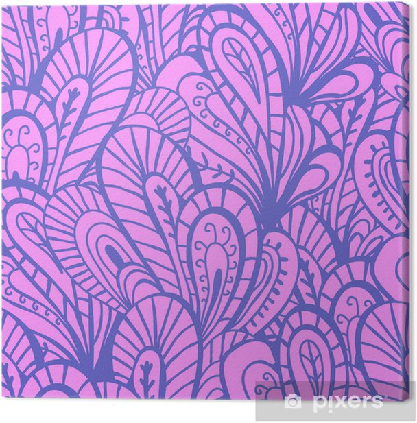 Canvas Fantasy abstract naadloze patroon - Achtergrond