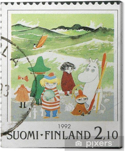 Canvas FINLAND - 1992: toont Moomin Cartoon Characters, door Tove Jansson - Thema's