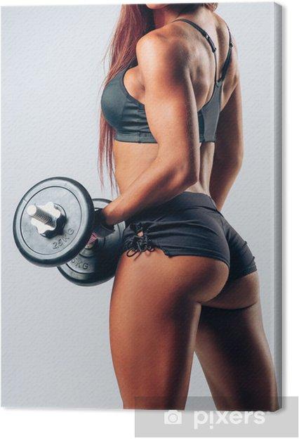 Canvas Fitness vrouw - Gezondheid