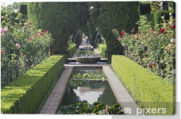 Welp Canvas Fontein, tuin Alhambra, Granada, Spanje • Pixers® - We UD-74