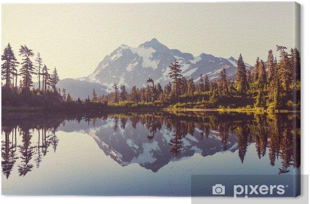 Canvas Foto meer - Landschappen