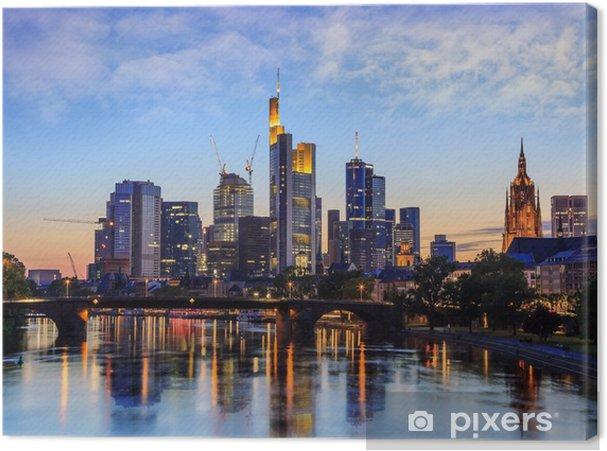 Canvas Frankfurt skyline, Duitsland - Duitsland
