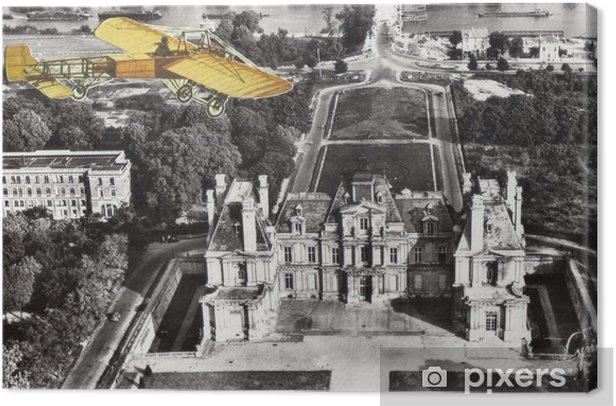 Canvas Franse antieke vintage collage. - Grafische Bronnen