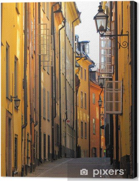 Canvas Gamla Stan, de oude binnenstad, Stockholm, Zweden - Europa
