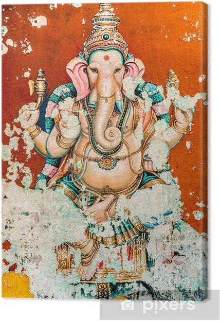 Canvas Ganesh oude fresco - Religie