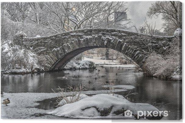 Canvas Gapstow brug Central Park, New York City - Infrastructuur