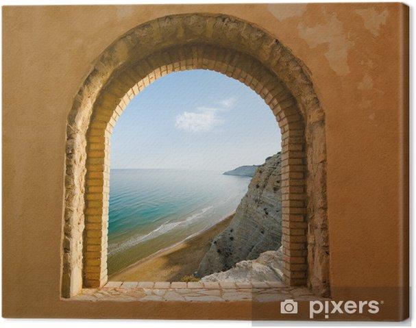 Canvas Gebogen venster op het kustlandschap van een baai - Thema's